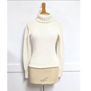 Sundance Turtleneck Sweater Cream size Small